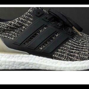 Mens Adidas Ultraboost Sz 7 Dark Mocha Black Gold NWT